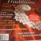 Crochet TRADITIONS magazine VINTAGE edging lace filet Irish BEADED Misers Purse