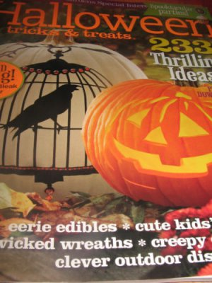 Better homes Gardens Halloween tricks treats magazine 2011 ADD BLACK Bling