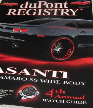 Dupont Registry Magazine ASSANTI Camaro SS Wide Body