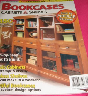 Bookcases Cabinets  SHELVES Magazine Step by Step plans to build Storage display