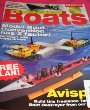 Model BOATS magazine FREE Plan convention freelance Torp boat destroyer Build