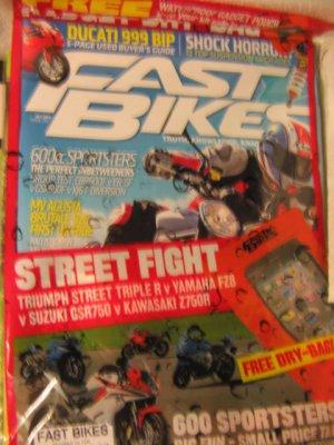 Fast Bikes UK magazine 600 cc Sportsters ducatti 999 Suzuki Kawasaki