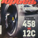 12-2 Top Gear UK magazine Ferrari McLaren 458 vs 12C corvette Muscle car