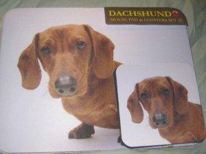 dachshund Dog Mousepad & 2 coaster set Littlegifts