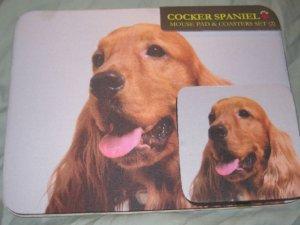 Cocker spaniel  Dog Mousepad & 2 coaster set Littlegifts