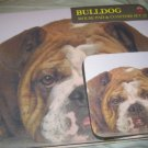 Bulldog Dog Mousepad & 2 coaster set Littlegifts