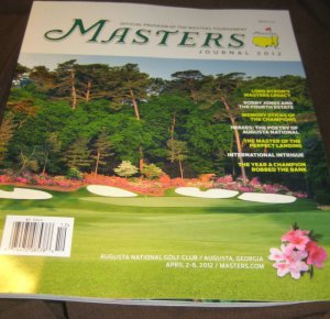 MASTERS journal 2012  GOLF official tournament program magazine  Jones Augusta