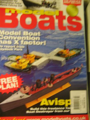 listed UK Model Boats magazine Free PLAN freelance torp destroyer