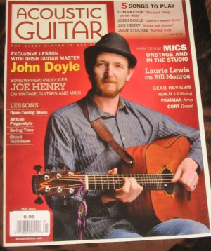 Acoustic GUITAR magazine chord technique mics onstage 5 songs to play TUNING