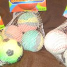 Lot 3 packs hi BOUNCE rubber balls mini Beach Basketballs Soccer Baseballs new 9