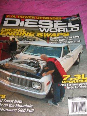 Diesel world magazine  Cummins super duty half tons Turbo power upgrades speed
