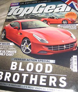 UK Topgear magazine ferarri action special BLOOD Brothers SA Aperta april 2011
