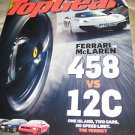 UK Topgear magazine ferarri vs McLaren 458 12C corvette camaro