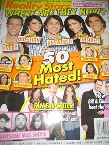 Reality Stars Where are they Now Magazine 100 awesome mug shots Jake Angelina Da