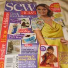 Sew HOME magazine December 2012  fabric  headboard vintage stockings free mag