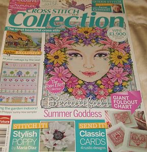 Cross Stitch Collection Magazine july 2012 summer go cottage Goddess sea Cards