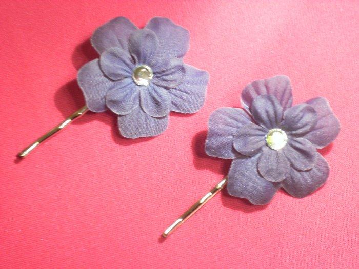Bobby Pin--Plum Flower
