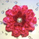 Flower Hair Clip - Hot Pink