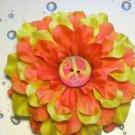 Fabric Flower Clip - Peace