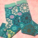 Baby Legs - Teal with Scroll Flowers