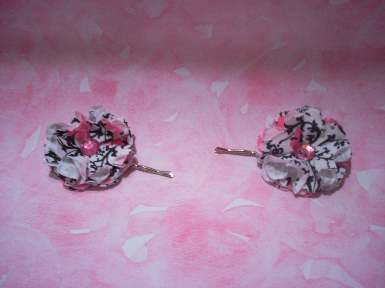 Pink & Black Flowers