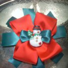Snowman boutique bow