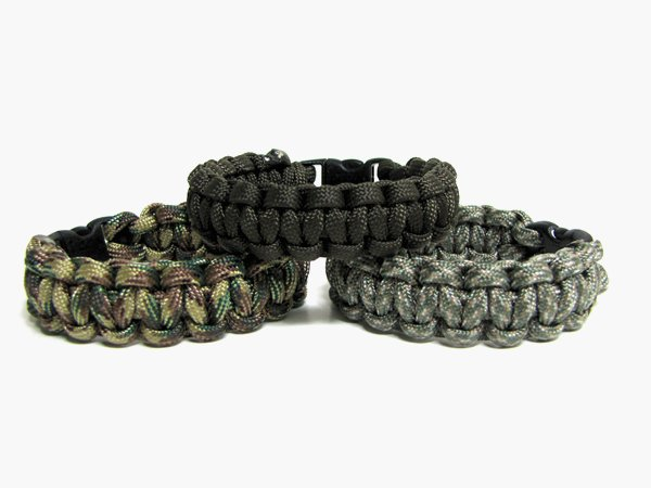 Set of 3 Paracord Bracelets, Choice of Colors and Sizes