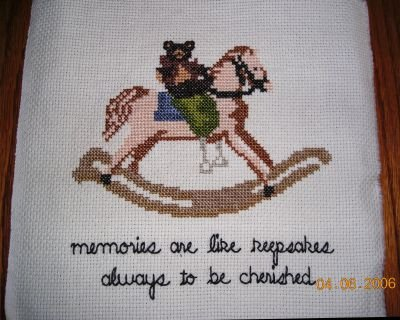 Rocking Horse Completed Cross Stitch Memories Are...