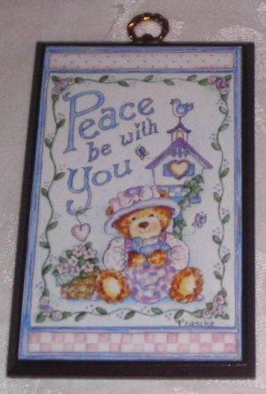 Peace Be With You Wall Plaque