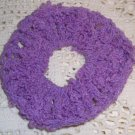 Fun Fur Handmade Crocheted Scrunchies Corded Purple