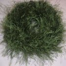 Fun Fur Handmade Crocheted Scrunchies Green
