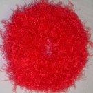 Fun Fur Handmade Crocheted Scrunchies Red Orange