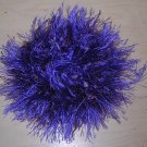 Fun Fur Handmade Crocheted Scrunchies Dark Purple