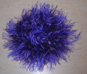 Fun Fur Handmade Crocheted Scrunchies Dark Purple