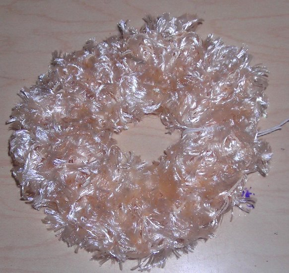 Fun Fur Handmade Crocheted Scrunchies Vanilla
