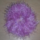 Fun Fur Handmade Crocheted Scrunchies Light Purple