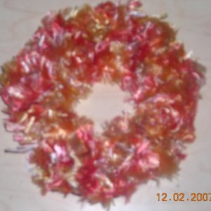 Fun Fur Handmade Crocheted Scrunchie Autumn Colors