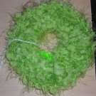 Handmade Crocheted Hair Scrunchie Light Green Nobby