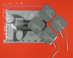 "2""x 2"" Square Self-Adhesive Reusable TENS/ EMS Electrodes 4/pk"
