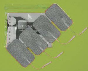 """2""""x3.5"""" Rectangle Reusable Self-Adhesive TENS EMS Electrodes, 4 Pads/Pack"""