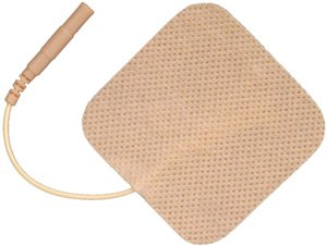 "1.5""x1.5"" Square Premium Self-Adhesive TENS/ EMS Electrodes 4/pk, Tan Cloth Topping"