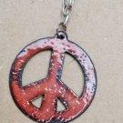 Burnt Peace Sign Necklace