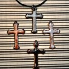 Enameled Cross Necklace- BLACK