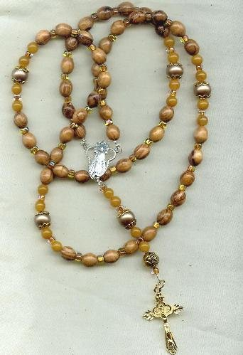 Rosary  of Olivewood from Bethlehem