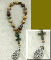St. Joseph Chaplet with Nine Gemstone Beads