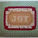 Hollaa holiday card: Joy with sparkle wreaths handmade ann