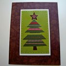 Hollaa holiday card: Simple Christmas Tree handmade ann