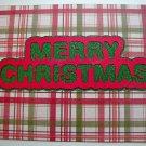 Hollaa holiday card: Merry Christmas plaid handmade ann