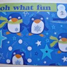 Hollaa holiday card: oh what fun penguins handmade ang