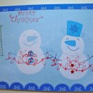 Hollaa holiday card: Merry Christmas Snowmen handmade ang